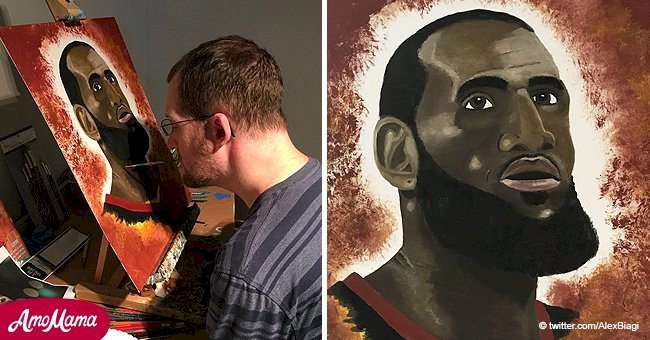 Artist who lost the use of his hands due to a rare condition learned to paint with his mouth