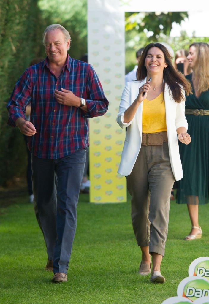 Fabiola Martínez y Bertin Osborne en la presentación de la campaña 'Danacol Charity'.l Fuente: Getty Images