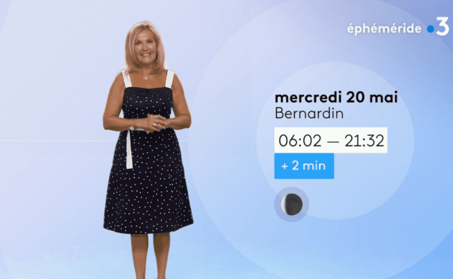 La miss météo Fabienne Amiach sur le plateau de France 3. | Photo : France 3