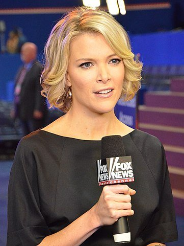 Megyn Kelly reporting during Fox's 2012 Republican National Convention coverage.   Source: Wikimedia Commons.