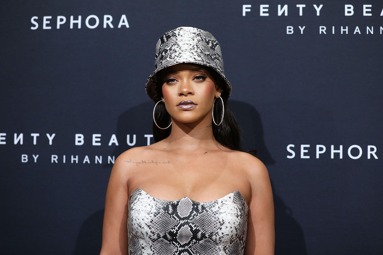 Rihanna lors d'un événément pour sa marque. l Source : Getty Images