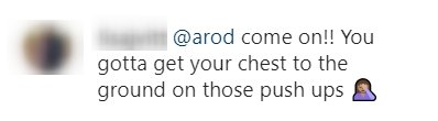 A fan's comment on an Instagram post made by Alex Rodriguez. | Photo: Instagram/arod