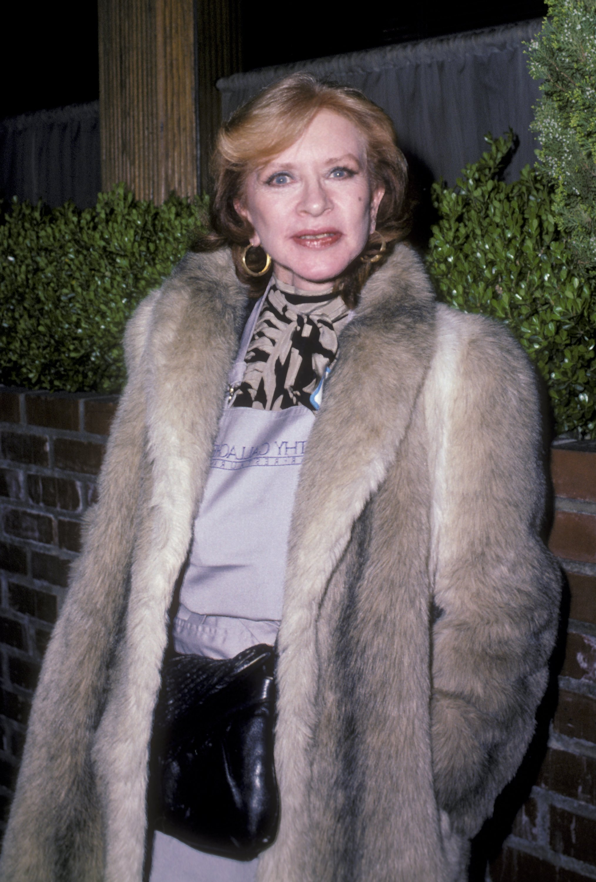 Amanda Blake attends Life Organization Benefit Fundraiser on February 11, 1986 at Gallagher's Restaurant in Los Angeles, California.| Source: Getty Images