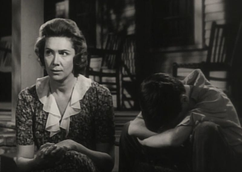 "Rosemary Murphy & Phillip Alford in ""To Kill a Mockingbird"" trailer. 
