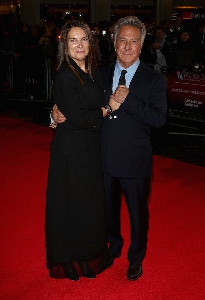 """Dustin Hoffman with his wife Lisa attend the """"Quartet"""" premiere during the 56th BFI London Film Festival at the Odeon Leicester Square on October 15, 2012, in London, England. 