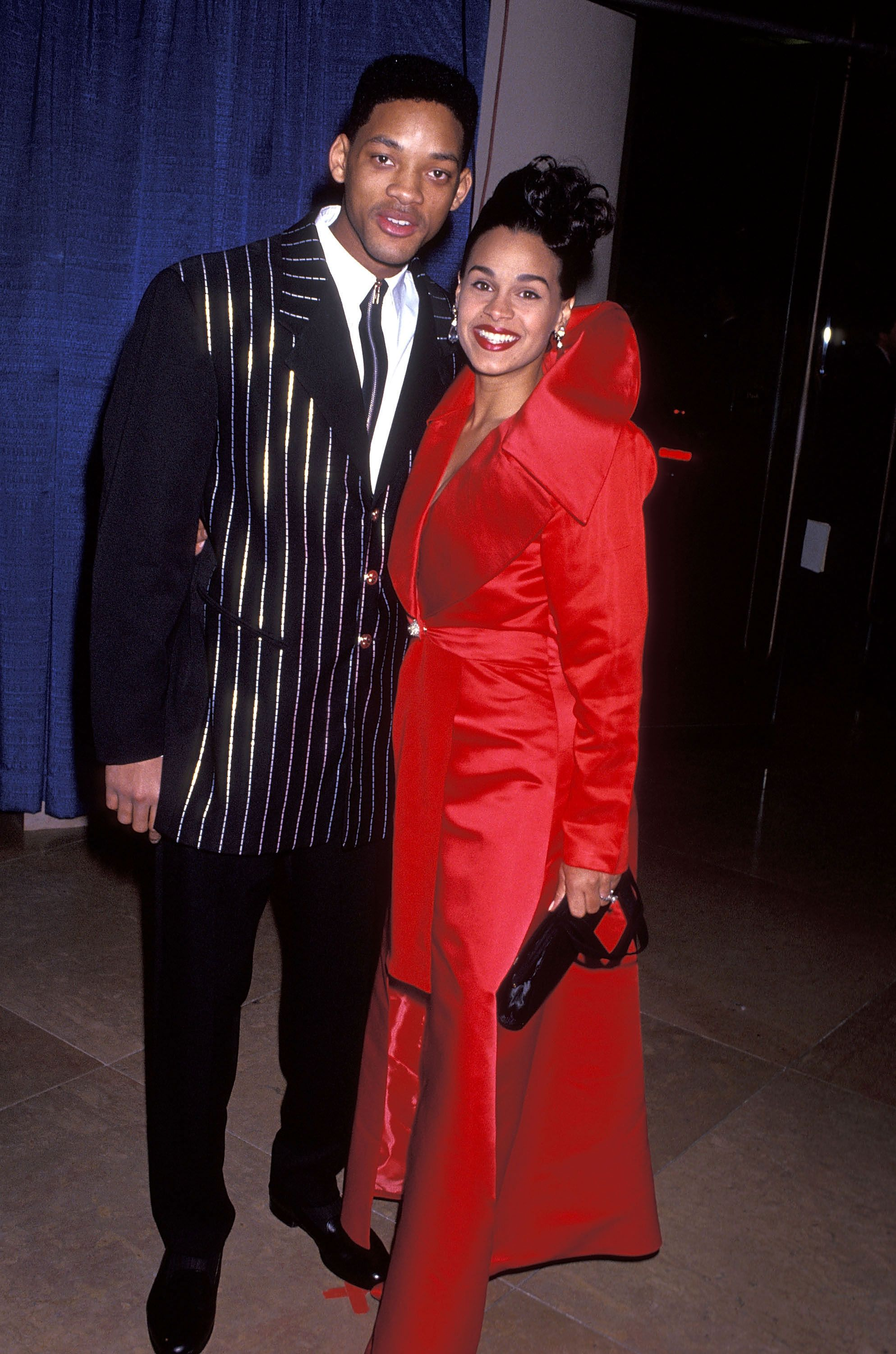 Will Smith and wife Sheree Zampino attend the 50th Annual Golden Globe Awards on January 23, 1993 at Beverly Hilton Hotel in Beverly Hills, California. | Source: Getty Images