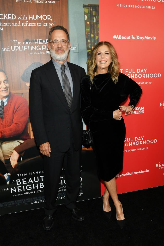 """Tom Hanks and Rita Wilson attend """"A Beautiful Day In The Neighborhood"""" New York Screening at Henry R. Luce Auditorium at Brookfield Place. 