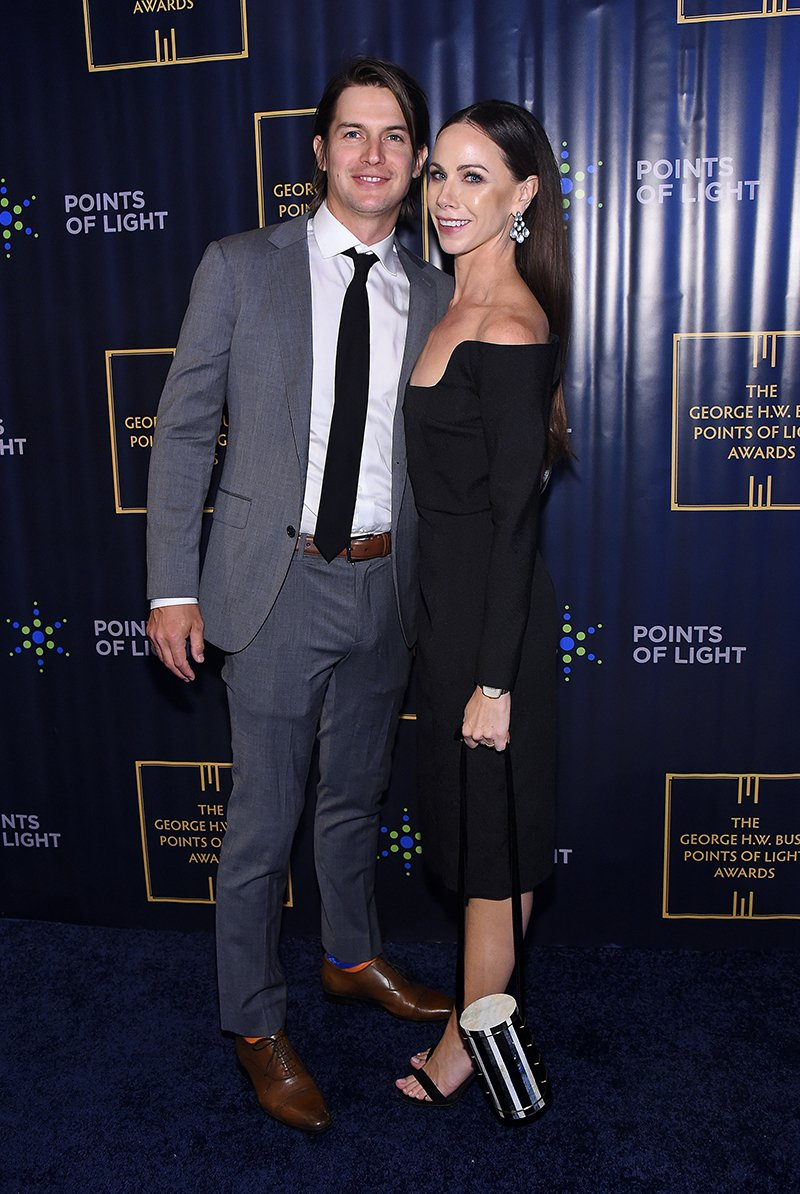 Craig Coyne and Barbara Bush attending The George H.W. Bush Points Of Light Awards Gala  in New York City in September 2019. I Image: Getty Images.