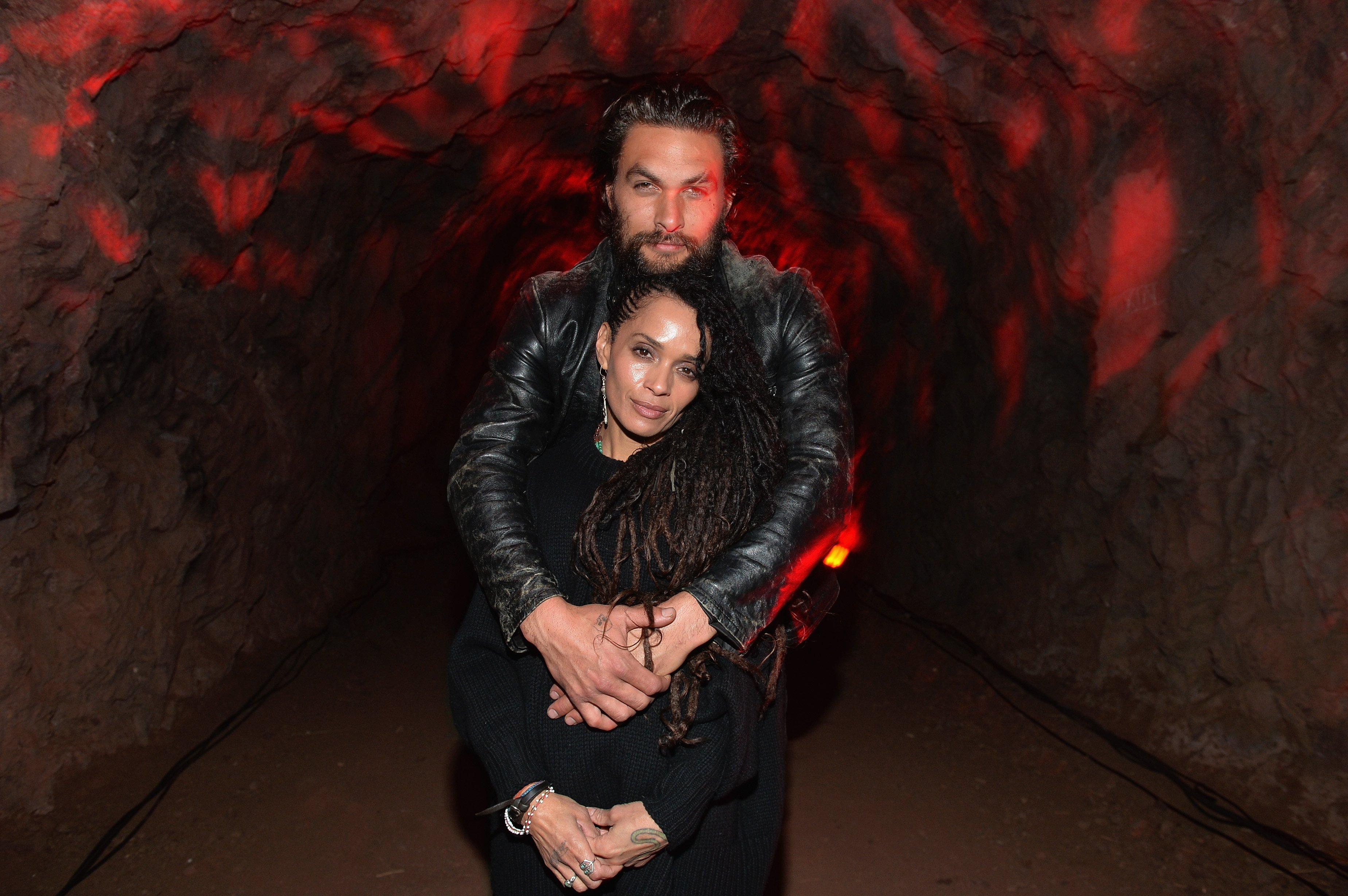 "Lisa Bonet and Jason Momoa attend a screening of Sundance Channel's ""The Red Road"" at The Bronson Caves at Griffith Park. Photo: Getty Images"