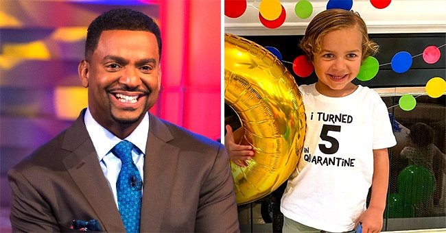 Alfonso Ribeiro's Son Ander Hits Shark Pinata during Quarantine Birthday Celebration