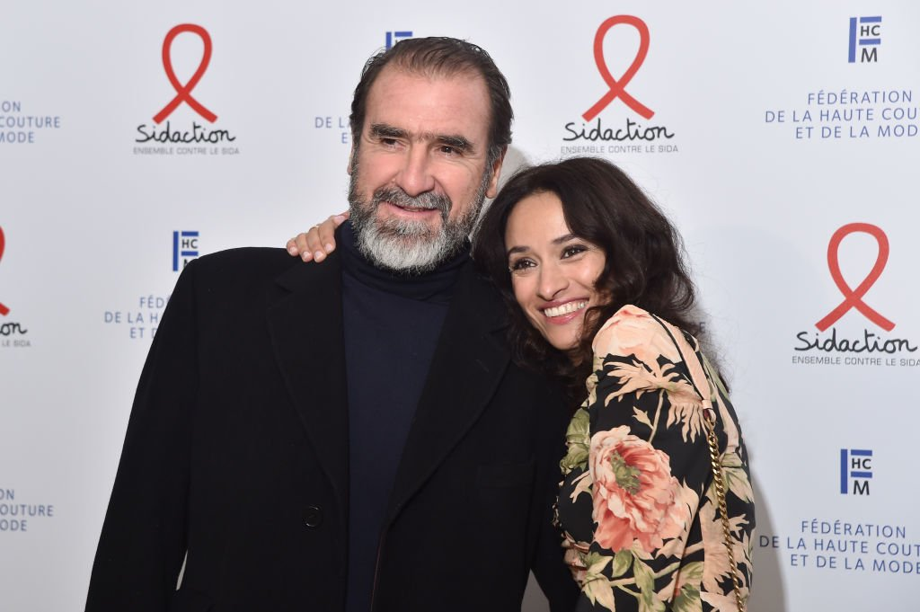 Eric Cantona et Rachida Brakni assistent au dîner de gala Sidaction 2020 au Pavillon Cambon le 23 janvier 2020 à Paris, France. | Photo : Getty Images.