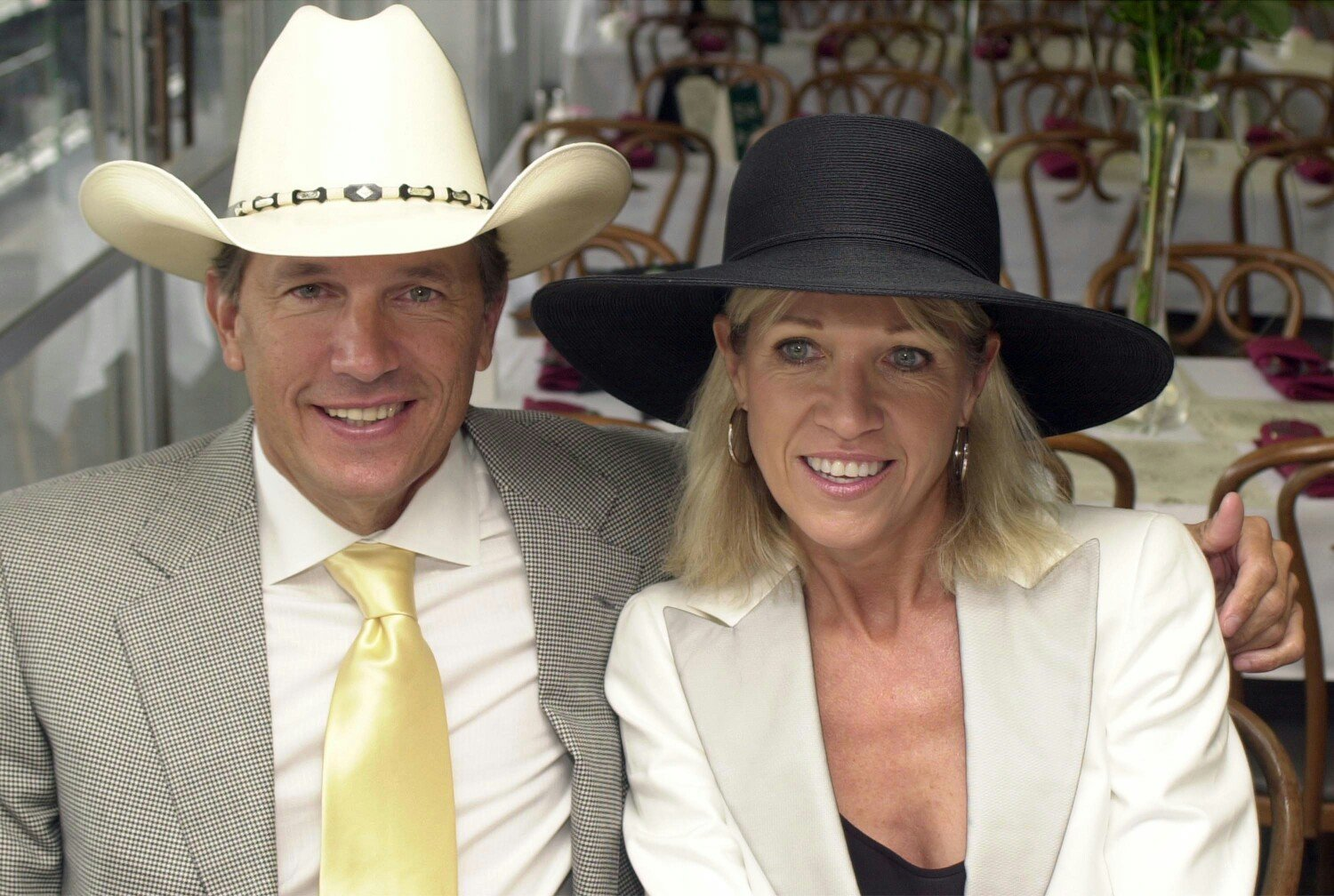 George Strait and his wife, Norma pictured at the 130th Running of the Kentucky Derby, 2004, Louisville, Kentucky.   Photo: Getty Images