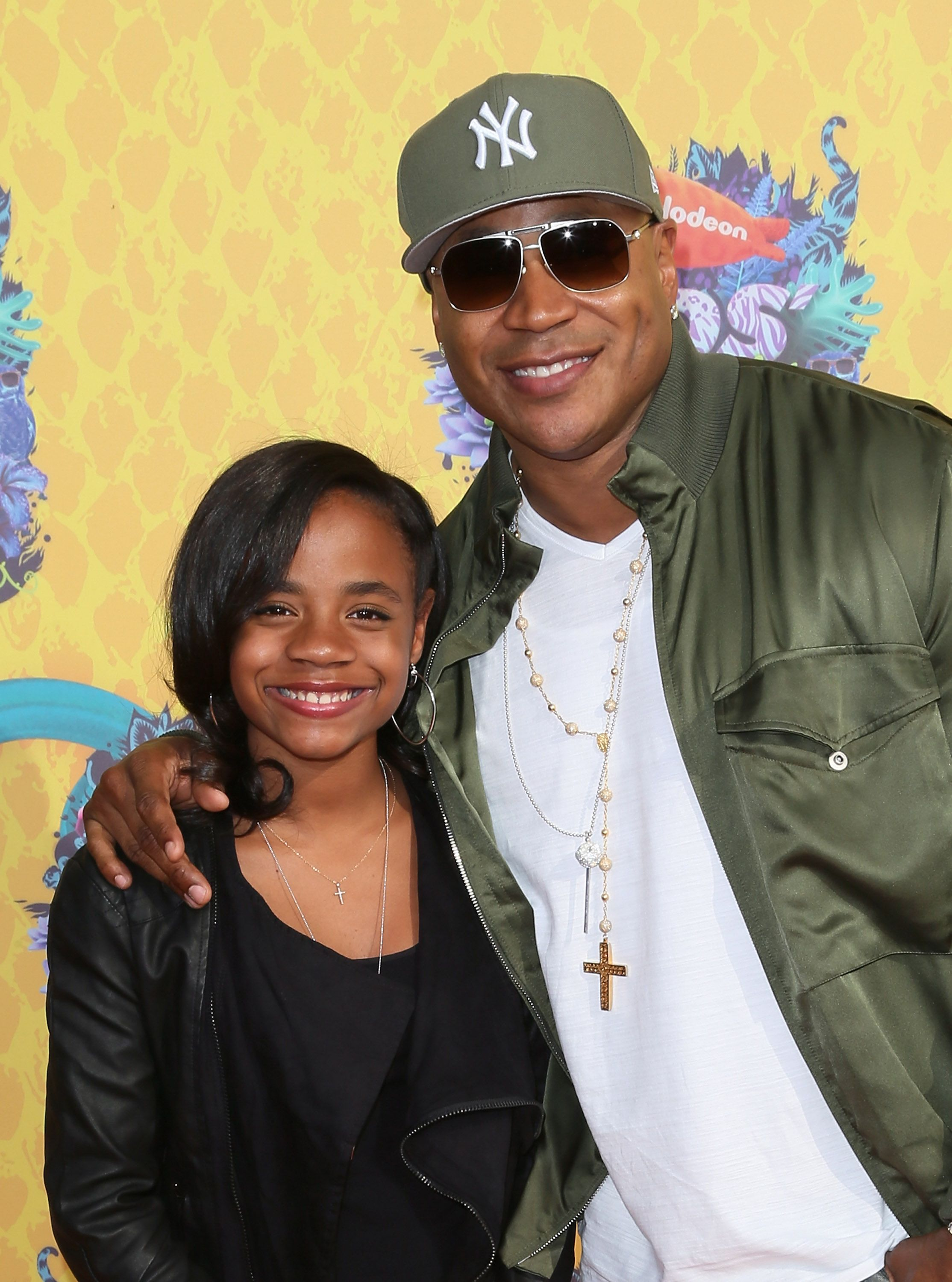 LL Cool J and Nina Simone Smith during the Nickelodeon's 27th Annual Kids' Choice Awards at USC Galen Center on March 29, 2014 in Los Angeles, California. | Source: Getty Images