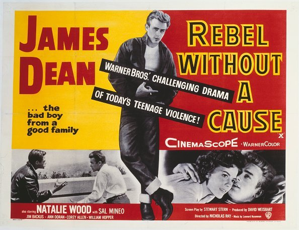 A poster for Nicholas Ray's 1955 drama 'Rebel Without a Cause' starring James Dean | Photo: Getty Images