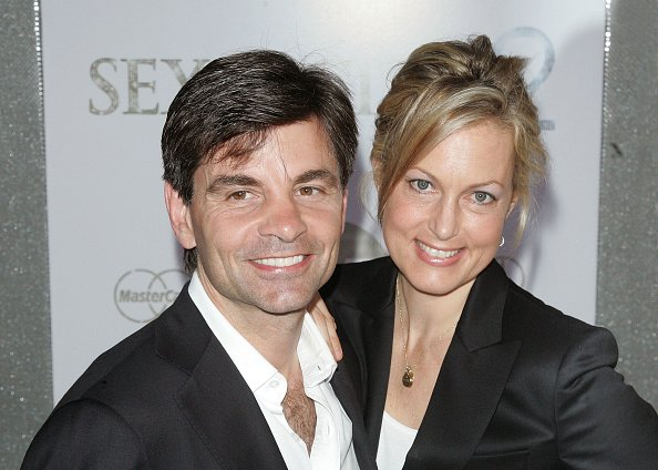 "George Stephanopoulos and wife Ali Wentworth attend the premiere of ""Sex and the City 2"" at Radio City Music Hall on May 24, 2010 