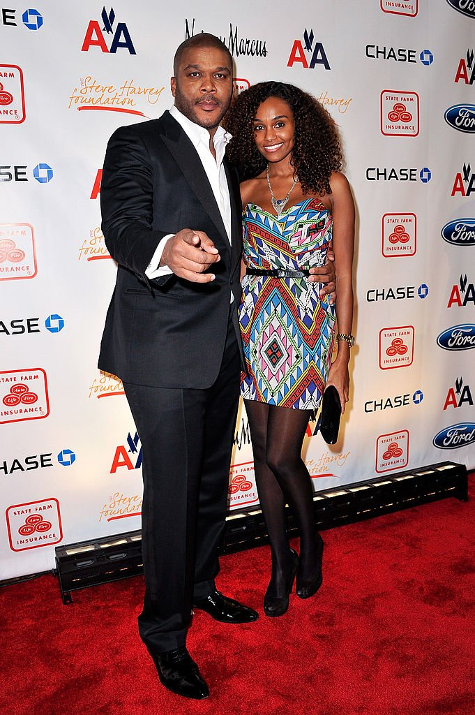 Director Tyler Perry and model Gelila Bekele attend the 2nd annual Steve Harvey Foundation gala at Cipriani Wall Street on April 4, 2011 | Photo: Getty Images
