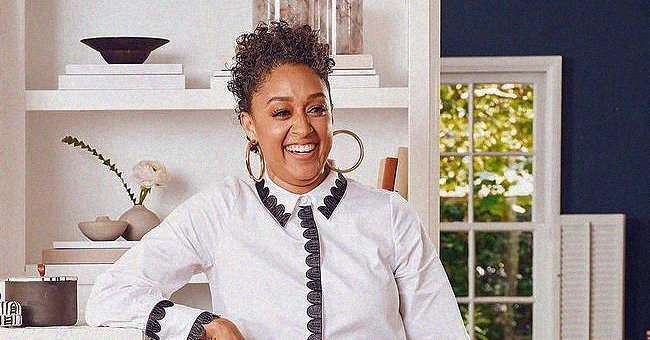 Tia Mowry Proves Daughter Cairo Looks Cute in a Face Mask as She Poses in White Dress & Turban