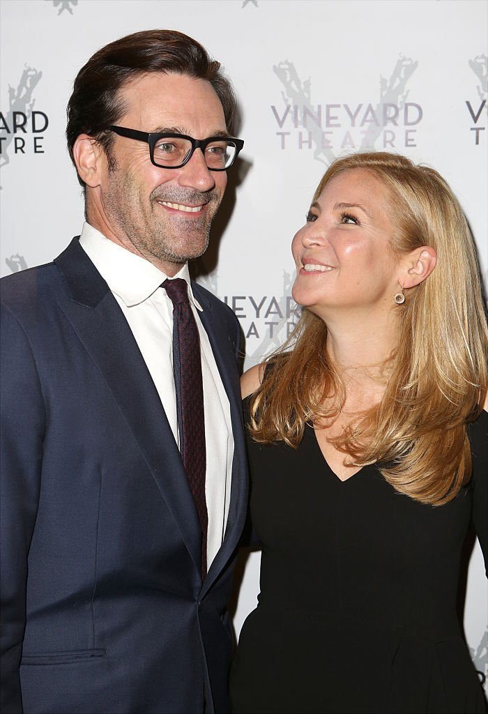 Jon Hamm and Jennifer Westfeldt attend the Off-Broadway opening Night Performance of 'Billy & Ray' at the Vineyard Theatre on October 20, 2014 | Photo: Getty Images
