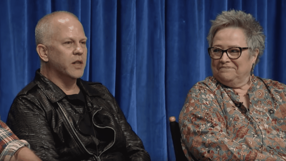 Ryan Murphy and Kathy Bates. I Image: YouTube/ The Paley Center for Media.