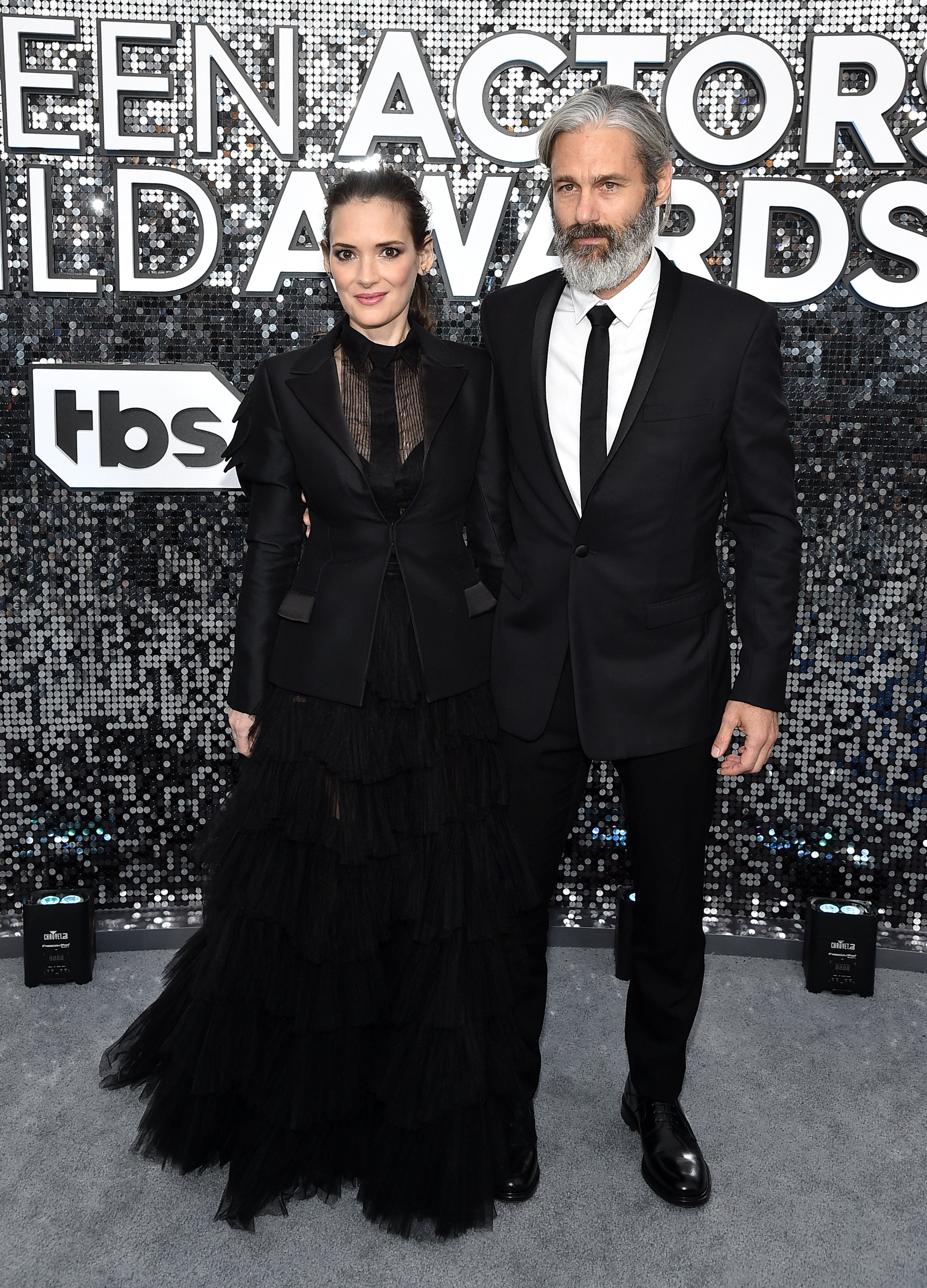 Winona Ryder and Scott Mackinlay Hahn attend the 26th Annual Screen Actors Guild Awards at The Shrine Auditorium on January 19, 2020, in Los Angeles, California. | Source: Getty Images.
