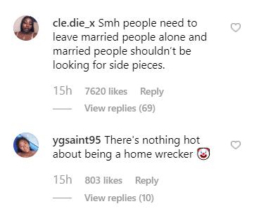Screenshot of social media reactions.  Photo: Instagram/The Shade room