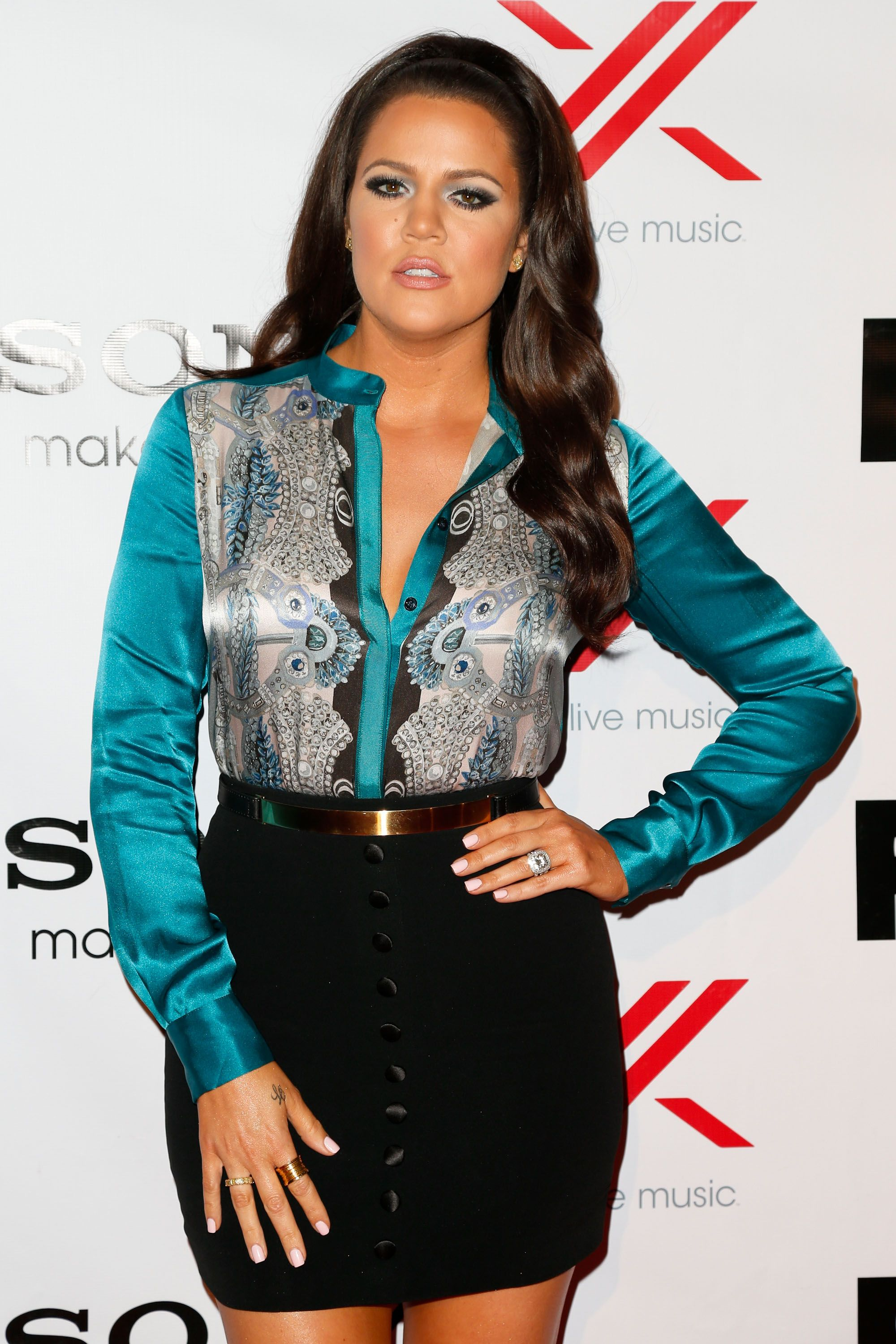 """Khloé Kardashian at Fox's """"The X Factor"""" viewing party on December 6, 2012 in Los Angeles. 