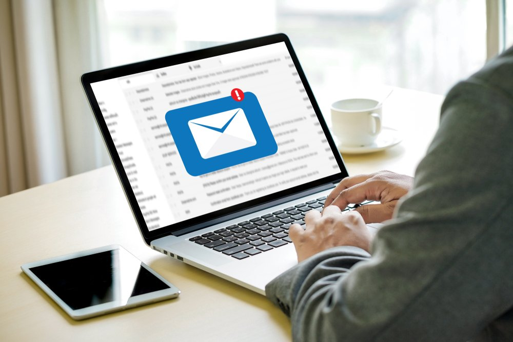 A photo of a man trying to send an email   Photo: Shutterstock