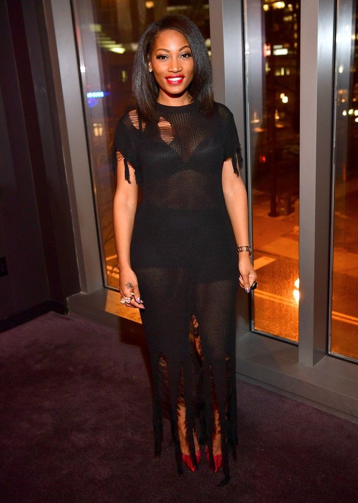 Erica Dixon attending a party at the Gold Room in Atlanta, Georgia, in January 2017. I Image: Getty Images.