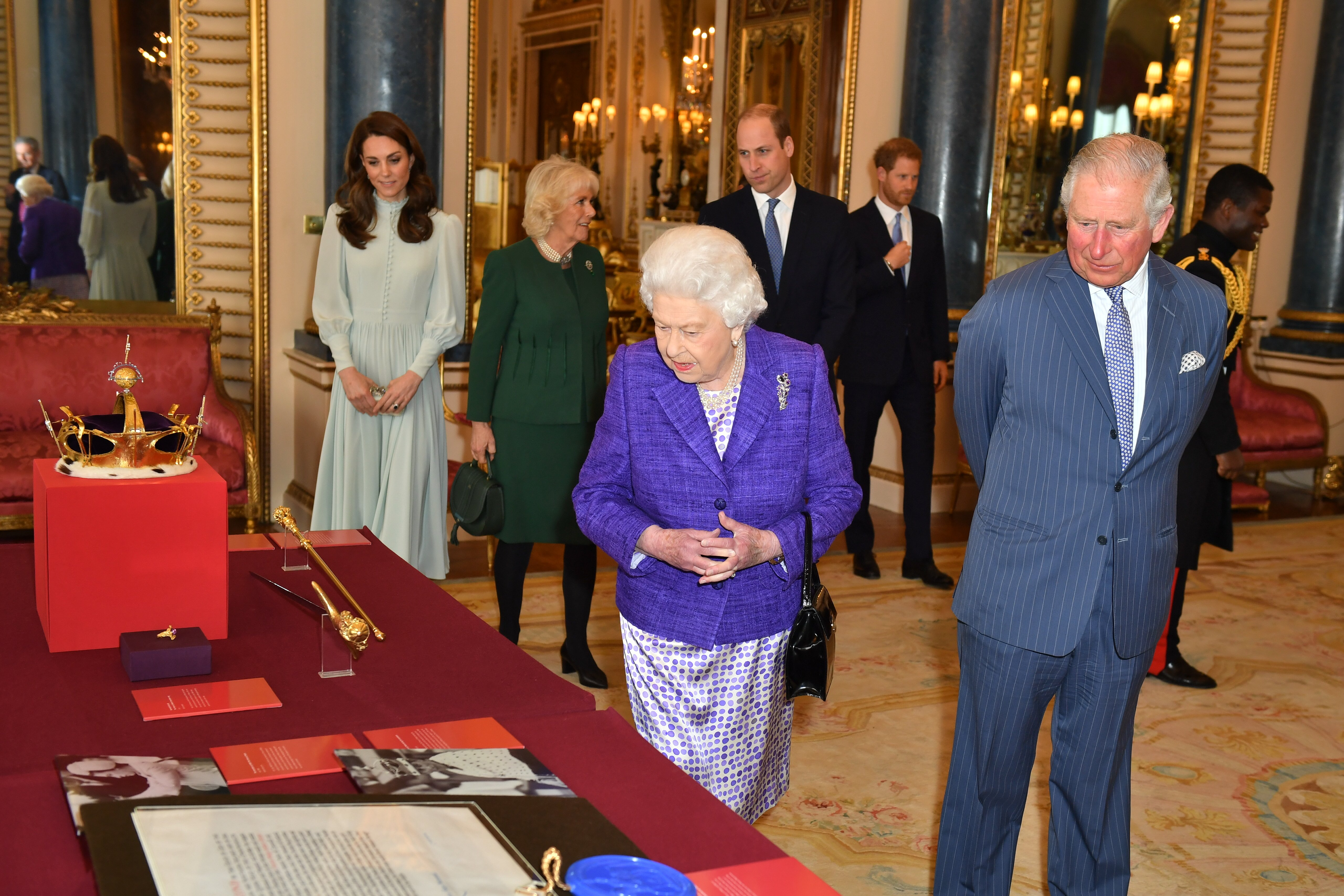 The Royal family together at the 50th anniversary of the Investiture of the Prince of Wales at Buckingham Palace   Photo: Getty Images