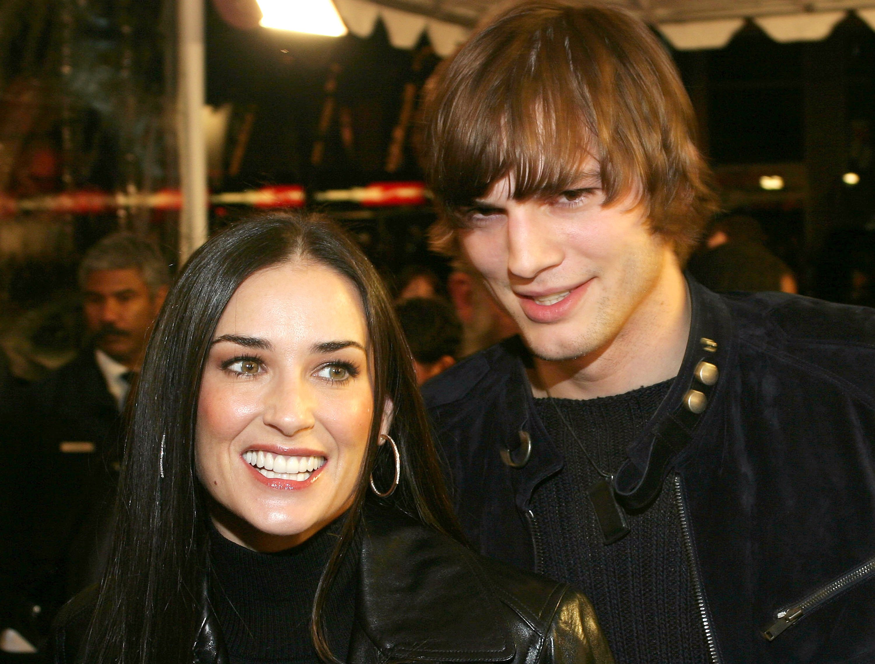 Ashton Kutcher and actress Demi Moore attend the Cheaper By The Dozen Premiere | Source: Getty Images