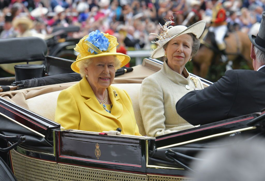 Queen Elizabeth II and Princess Anne, Princess Royal arrive on day 1 of Royal Ascot | Getty Images