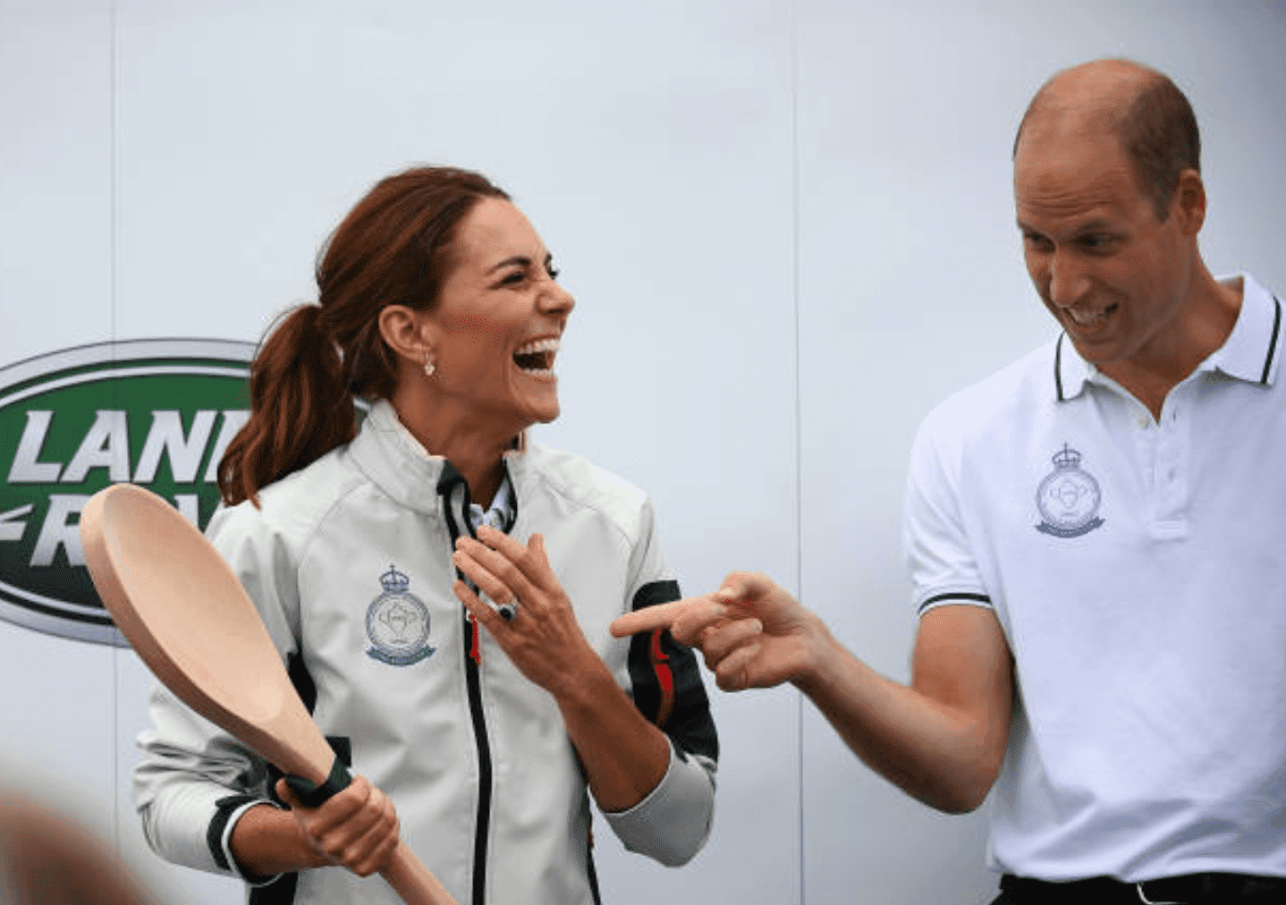 Kate Middleton receiving the wooden spoon at The King's Cup regatta, Isle of Wright | GettyImages
