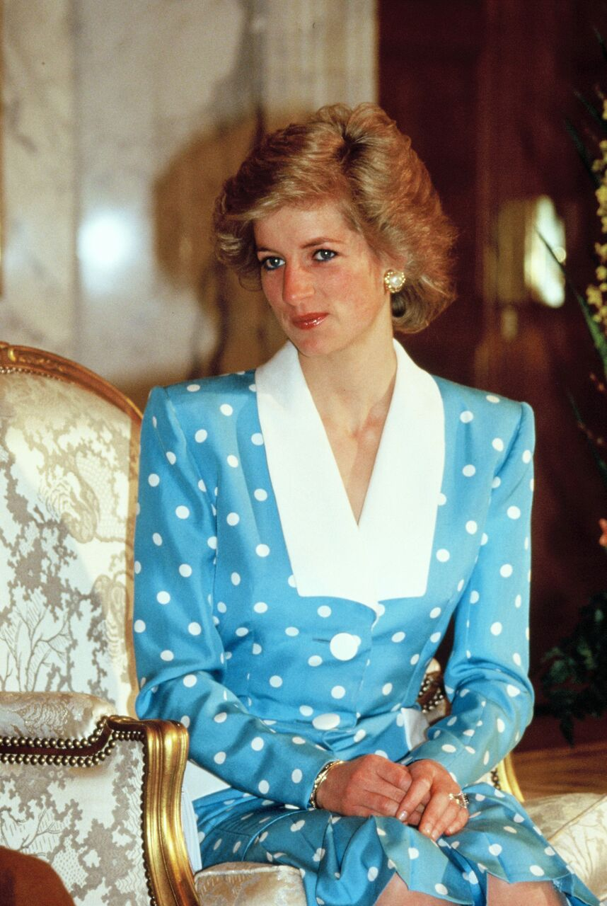 Princess Diana's portrait in her younger years. | Source: Getty Images