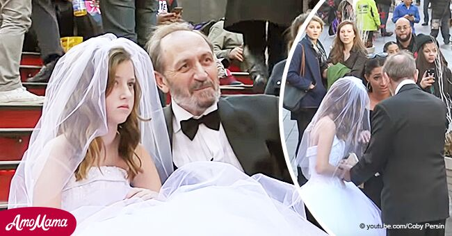 Experimento social: Lo que pasaría si un hombre mayor tratara de 'casarse' con una niña de 12 años