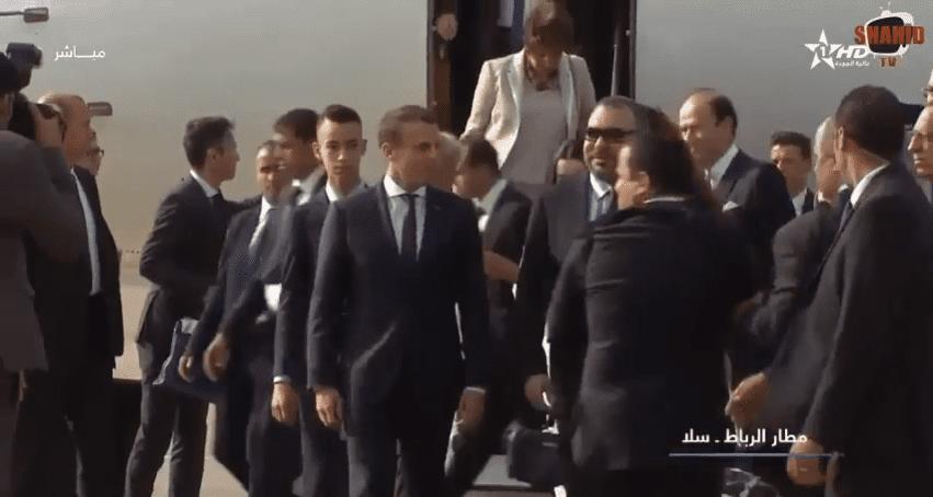 Emmanuel Macron et le roi Mohammed VI   Youtube  : Buzz News
