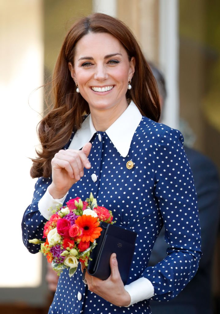 """Kate Middleton visiting the """"D-Day: Interception, Intelligence, Invasion"""" exhibition at Bletchley Park, 2019, England 