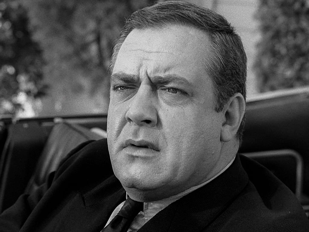 """Raymond Burr as Perry Mason in the PERRY MASON episode, """"The Case of the Final Fade-Out."""" that aired on May 22, 1966 