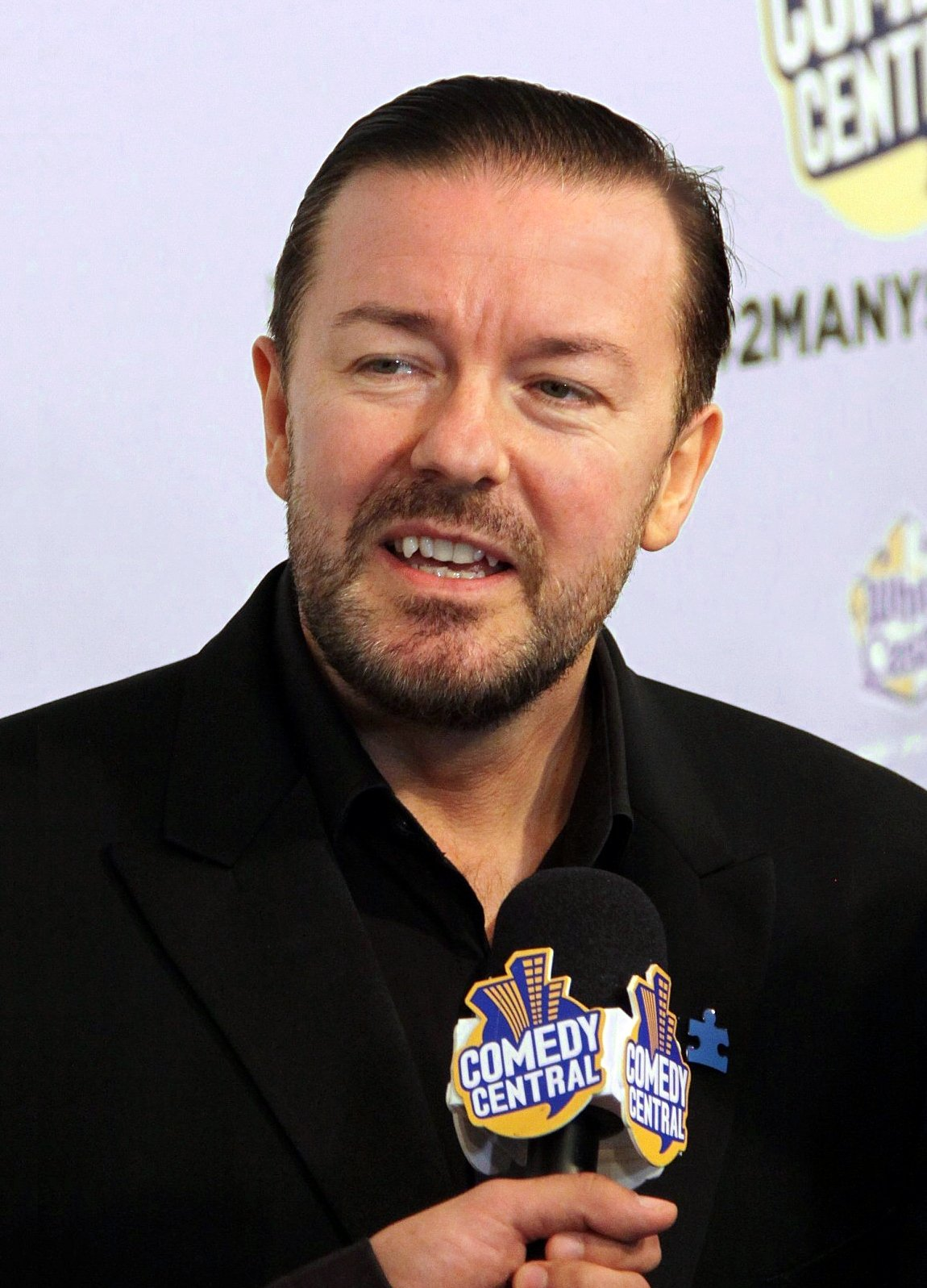 "Ricky Gervais at Comedy Central's ""Night of Too Many Stars"" at the Beacon Theater in New York on October 2, 2010 