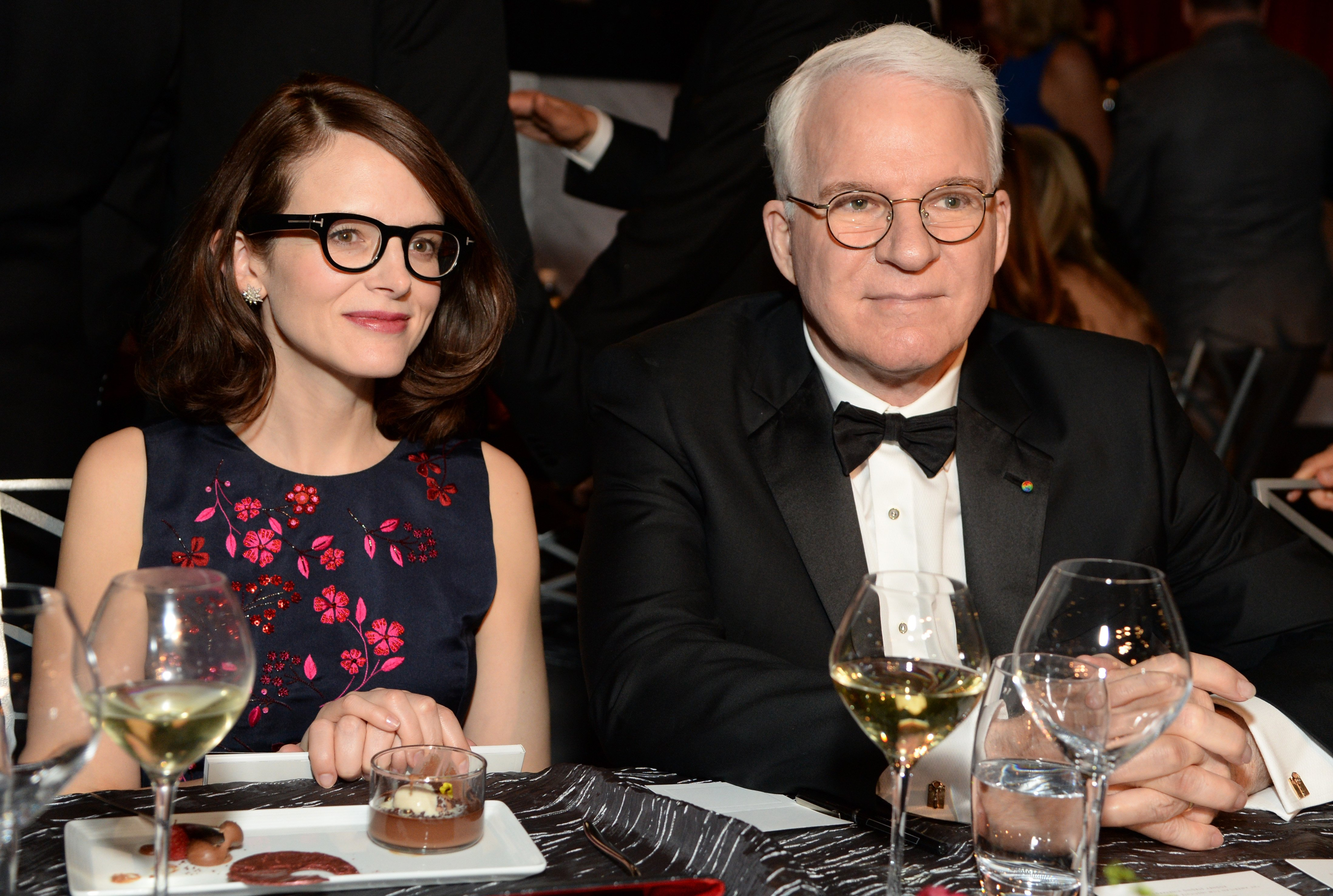 Anne Stringfield and Steve Martin attend the AFI Life Achievement Award Gala in Hollywood, California on June 4, 2015 | Photo: Getty Images