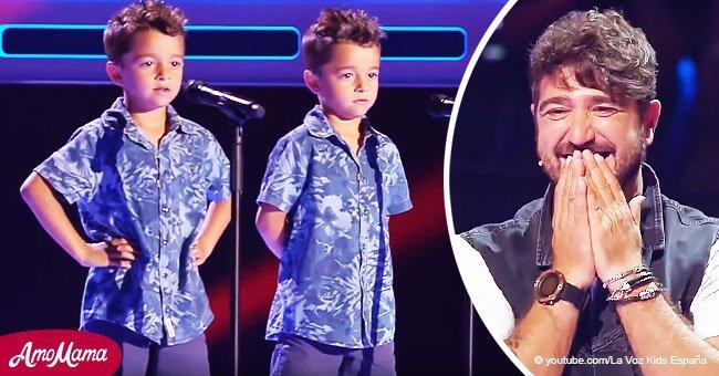 """Des jumeaux chantent """"Te quiero, te quiero"""" et font pleurer le jury"""