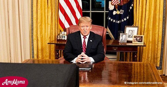 President Trump addressed a speech from the Oval Office to the US nation on Tuesday evening