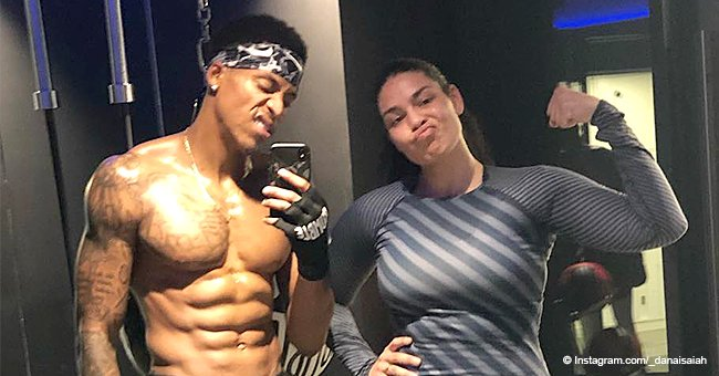 Jordin Sparks shows off her snapback body as husband Dana flaunts well-sculpted abs in pic