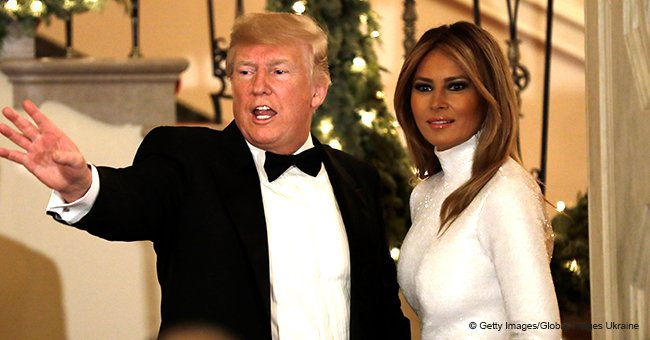 Melania Trump stuns in sparkling white gown & silver high heels at White House Congressional Ball