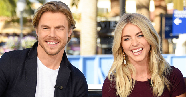 Derek Hough Shares 'Golden Buzzer' Worthy Video of Sister Julianne Falling into a Pool