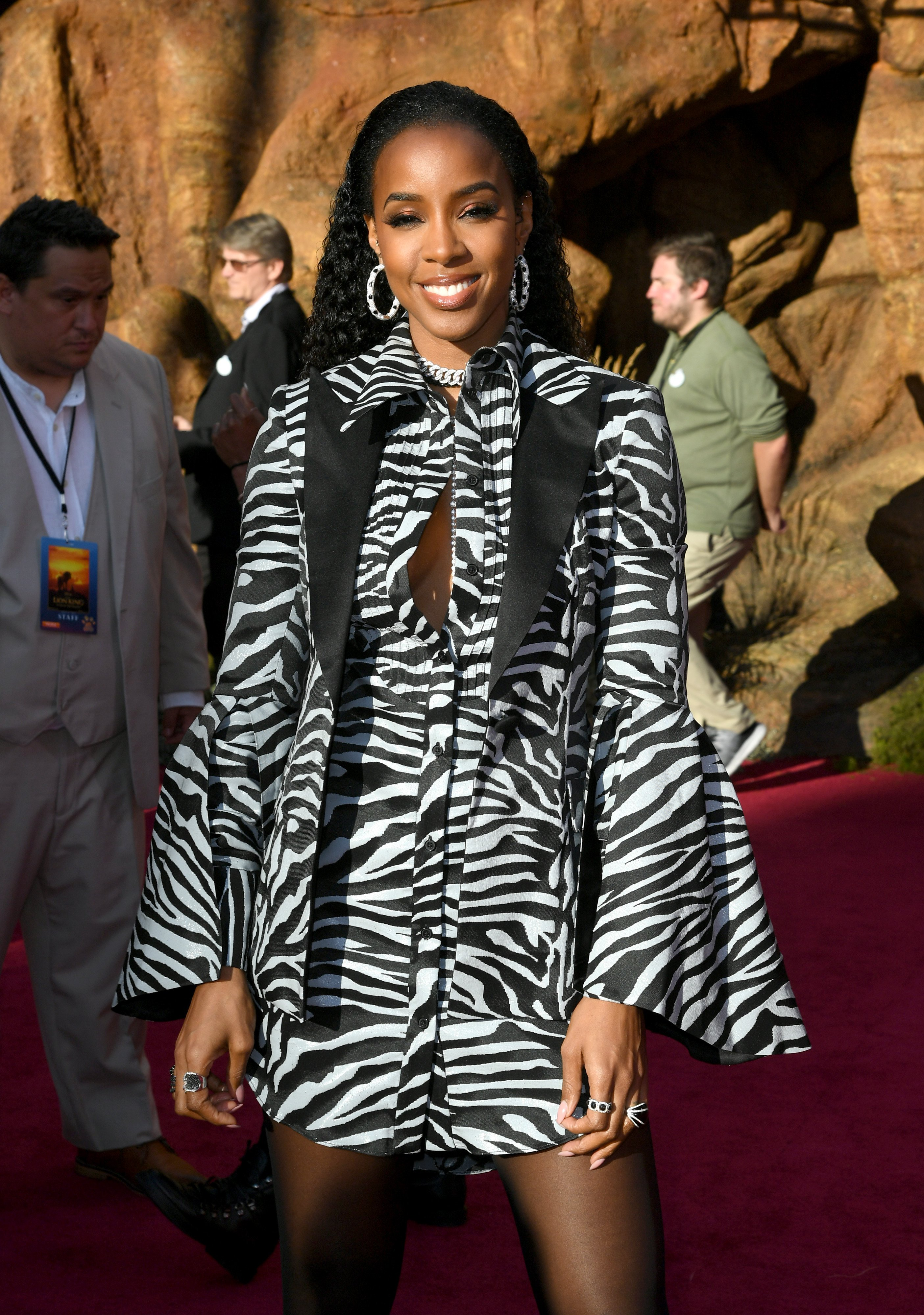 """Kelly Rowland attends the premiere of Disney's """"The Lion King"""" on July 2019 