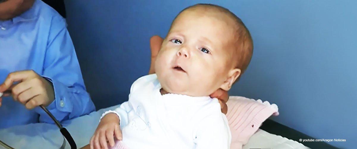 Bebé recién nacida. Fuente: Aragon Noticias / YouTube