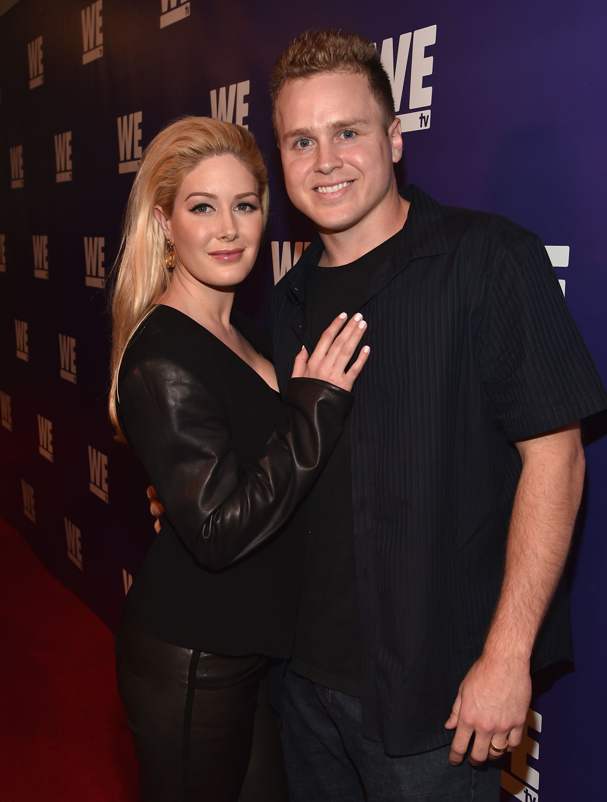"Spencer Pratt and Heidi Montag at the premier of ""The Evolution of The Relationship Reality Show"" in 2015 in Beverly Hills 