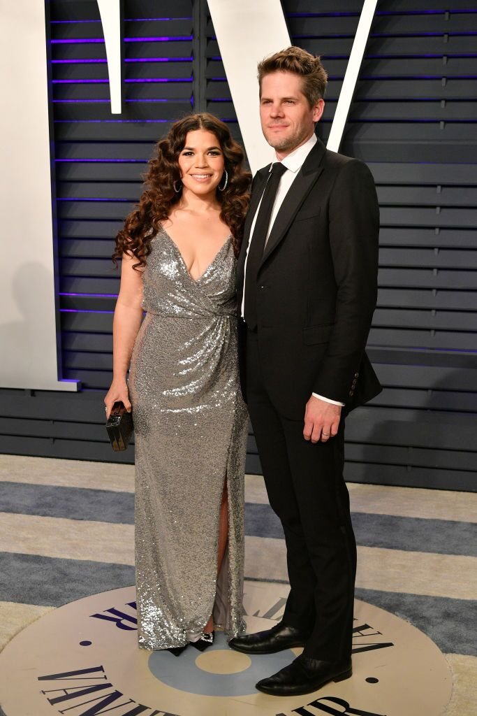 America Ferrera and Ryan Piers Williams attend the 2019 Vanity Fair Oscar Party. | Source: Getty Images
