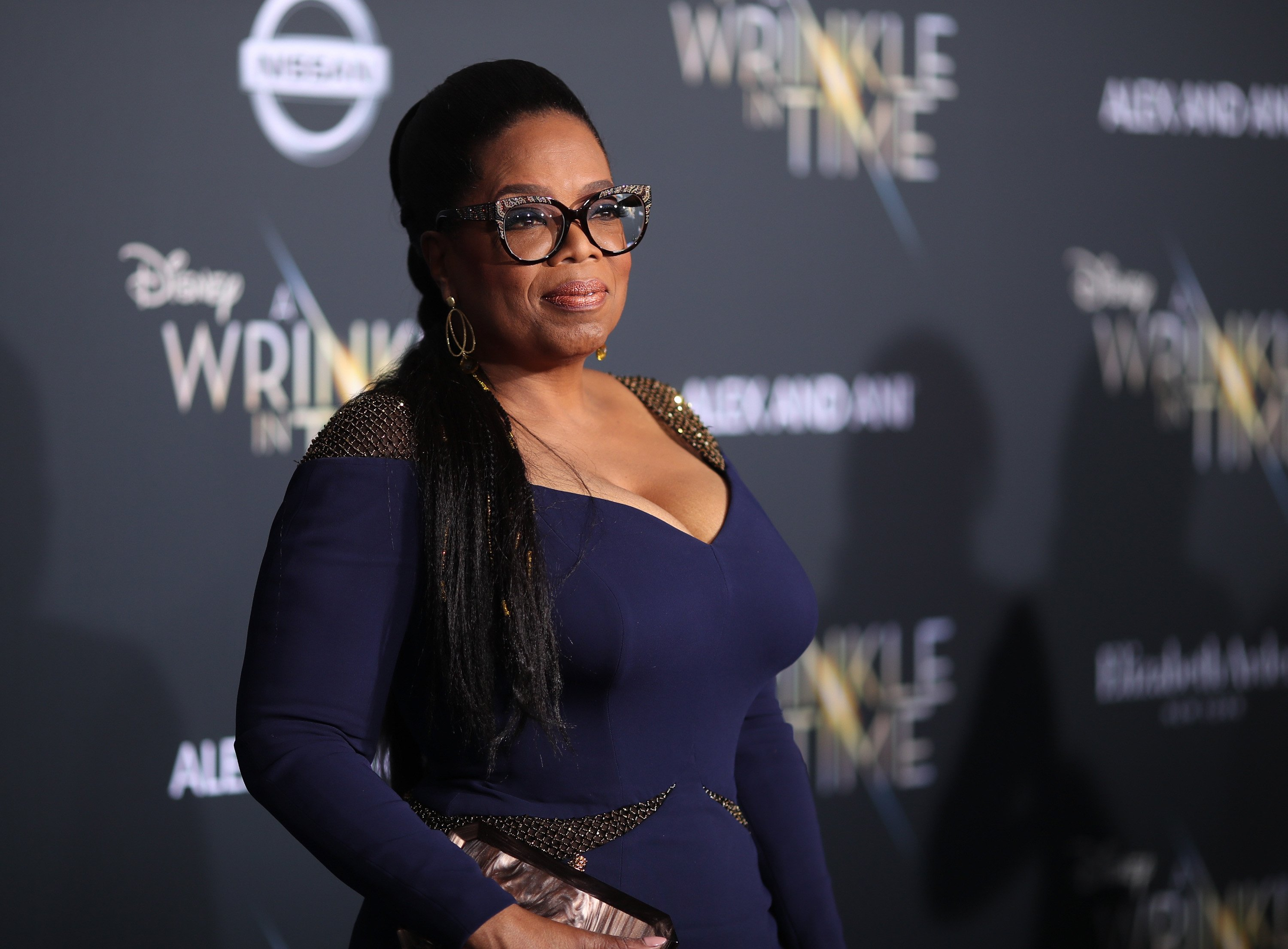 "Oprah Winfrey at the premiere of Disney's ""A Wrinkle in Time"" in February 2018. 