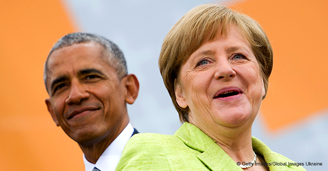 Angela Merkel Gives Barack Obama a Very Warm Welcome before Private Meeting in Berlin